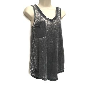 Z Supply Tops - Z SUPPLY GRAY BURNOUT RACERBACK POCKET TANK TOP
